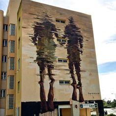 Borondo, street art, Lisbon