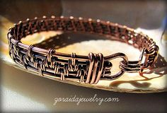 Copper Wire Weave Bracelet for Men or Women