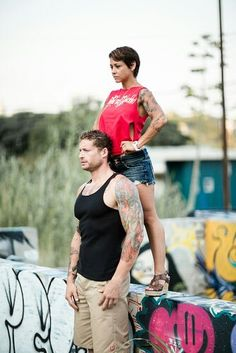 C.E.O. & C.O.O..of Tatted and Shredded...Philip Mayberry and Kalyn Blacklock ...at the Graffiti Park Photo Shoot..