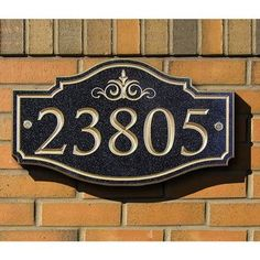 TheStoneMill Corian Victorian 1-Line Wall Address Plaque Size: