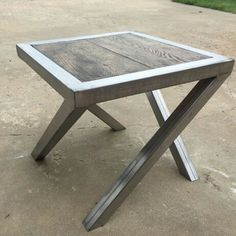 Handcrafted steel & OAK endtables