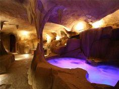 underground spa....