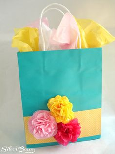 Silver Boxes: Shopping Bag Turned Gift Bag