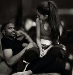 "Ariana Grande and Big Sean Big Sean and Ariana Grande have caused quite a stir on Instrgram. Grande's habit of calling her boyfriend ""dad"" has rubbed some fans the wrong way. Ariana Grande Big Sean, My Everything Ariana Grande, Cute Celebrities, Celebs, Dope Couples, Dangerous Woman, Boyfriend Girlfriend, Female Singers, Best Couple"