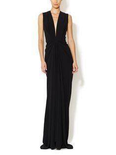 Crepe Plunge V-Neck Gown by Thakoon at Gilt