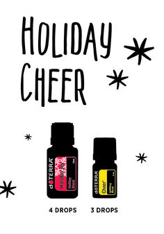 Diffuse to promote Holiday Cheer in your home, classroom or office!
