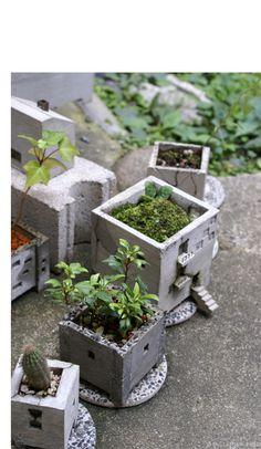 fascinating, beautiful concrete planters