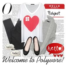 """Welcome to Polyvore!"" by polybot ❤ liked on Polyvore featuring Donna Karan, True Religion, Bloch and Bonbi Forest"