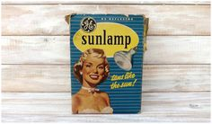Vintage 1950's General Electric Tanning Lamp by JoyousVintage