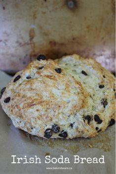 Irish Soda Bread  #irishrecipes #StPatricksDay #easybread #sodabread #irishsodabread via @Bakersbeans