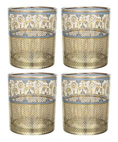 Another great find on #zulily! London Secrets Rocks Glass - Set of Four #zulilyfinds