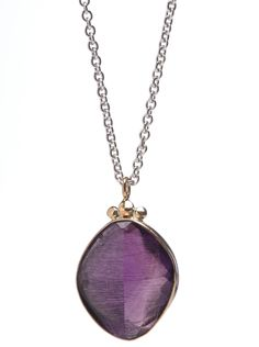 Rosecut Amethyst Necklace by Emily Amey Jewelry