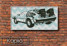 DeLorean Back to the Future Cross Stitch Pattern by Kaplio on Etsy, $4.00