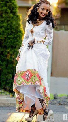 Ethiopian Dress ~ DKK~ Join us at: https://www.facebook.com/LatestAfricanFashion for Latest African fashion, Ankara, kitenge, African women dresses, Bazin, African prints, African men's fashion, Nigerian style, Ghanaian fashion