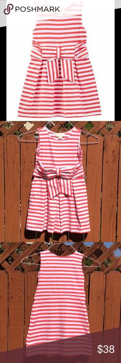 Kate Spade Toddlers Jillian Dress A cummerbund bow accents the waist of this swingy, soft, super comfy striped dress made from stretch cotton. 95% cotton  5% elastane   Pleated skirt front, scoop neck, sleeveless, pull-on over head. Cute Cute Cute kate spade Dresses Casual