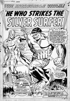 Hw Who Strikes The Silver Surfer Splash Page by Marie Severin