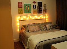 Linda parede de quadros para fazer em cima da cabeceira da cama! http://www.conceitogaya.com/2015/10/diy-parede-de-quadros.html