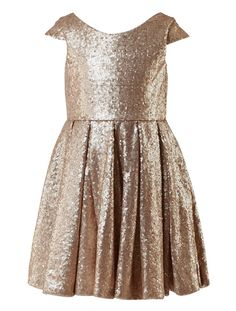 Amazon.com: Thstylee Champagne Sequin Tulle Short Sleeve Flower Girl Dress Wedding Party Dresses: Clothing