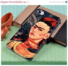 "ON SALE Frida Kahlo phone case for iPhone and Samsung. ""Self Portrait with Monkey"""