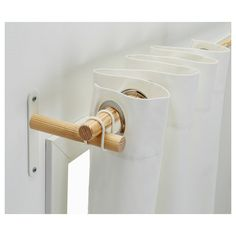 IKEA - SANNOLIKT, Curtain rod set, , Very easy to assemble with the included rubber bands.Can be cut to desired length with a hacksaw.