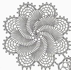Home Decor Crochet Patterns Part 48 - Beautiful Crochet Patterns and Knitting Patterns Crochet Doily Diagram, Crochet Doily Patterns, Crochet Chart, Thread Crochet, Filet Crochet, Crochet Motif, Knitting Patterns, Crochet Ideas, Crochet Bedspread