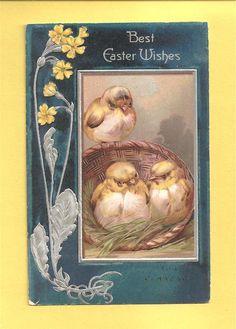 .1907 vintage paaskaart,................lb