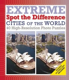 """Take a close look at the world's most beautiful cityscapes, from Mumbai to Manhattan, and everywhere in between. Cities of the World: Extreme Spot the Difference features 42 stunning images of these metropolitan wonders. Designed to challenge experienced """"spot-the-difference"""" puzzlers, these seemingly identical side-by-side photos each contain nearly 100 incongruities."""