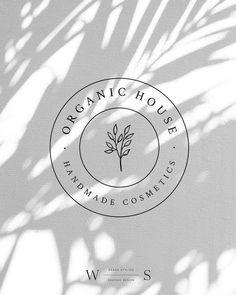 Classic and essential – circle watermark from the Organic House logo package … - Design Logo Biologique, Kreis Logo, Inspiration Logo Design, Graphisches Design, Design Trends, Organic Logo, Organic Modern, Elegant Logo, Unique Logo