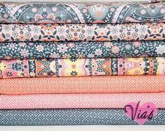 Fat Quarter Kit : Silent Cinema Jenean Morrison Orange Peach Free Spirit Fabric  Designer Cotton Quilt Fabric Bundle via Etsy
