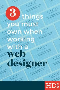 Working on a new website? You need to protect yourself from the beginning. Owning and controlling these 3 essential accounts and properties will keep you from being totally f*cked over by web design companies later down the road. Pin and read, and PLEASE PASS ON! | Hoot Design Co. • Web design, marketing, branding, social media agency in Columbia, MO