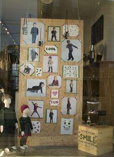 fall window kids on the rock retail windows, visual merch Store Front Windows, Retail Windows, Shop House Plans, Shop Plans, Healthy Living Magazine, Deck Plans, Retail Interior, Shop Window Displays, Kids Nutrition