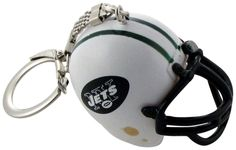 This mini New York Jets Helmet Keychain with your favorite NFL team is sure to keep you proud! Durably constructed of hard plastic in your team colors with a flexible key ring chain. Shop now for your