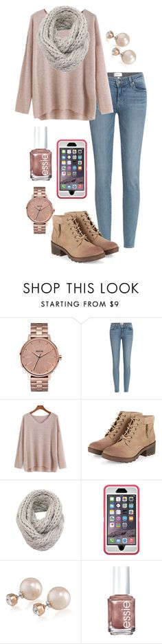 """We are surprising my sister with a kitten for her birthday!!! "" by madelyn-abigail ❤ liked on Polyvore featuring Nixon, Paige Denim, Carolee, Essie, women's clothing, women's fashion, women, female, woman and misses"