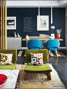 Contemporary Style living room featured in AD Spain Diy Home Decor On A Budget, Rooms Home Decor, Bedroom Decor, Contemporary Style Homes, Contemporary Decor, Eclectic Decor, Eclectic Style, Dining Room Blue, Inspired Homes