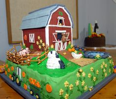Barnyard decorated cake from Domino Sugar Cake Decorating Contest at The Big E in 2011.