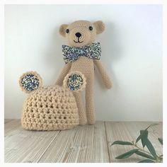 Newborn Crochet TEDDY Gift Set  Newborn Teddy by Unepelotedelaine