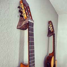 Hand crafted acoustic guitar hangers