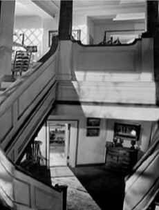 staircase at Gull Cottage production still