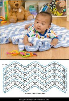lacy crochet ripple stitch
