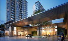 Entrance Design, Entrance Gates, Main Entrance, Gate Design, Facade Design, Architecture Design, Scda Architects, Seaside Apartment, Canopy Design