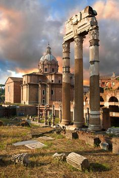 The Temple of Castor and Pollux, The Forum, Rome