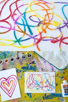 Raised salt painting is an all-time favorite kids art activity that is loved by all ages from toddlers on up. Glue, salt, and watercolors are all you need for this simple art activity, also known as salty watercolors. via @The Artful Parent