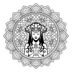 Serenity Mandala ColorMe Decal by Cristina McAllister