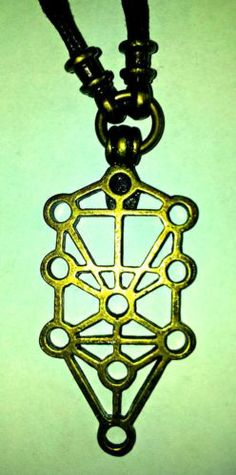 Kabbalah Empty Spaces Tree of Life Necklace Sephirot Charm Pendant Talisman | eBay
