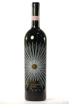 Luce Brunello di Montalcino wine Label.  I love pretty labels.
