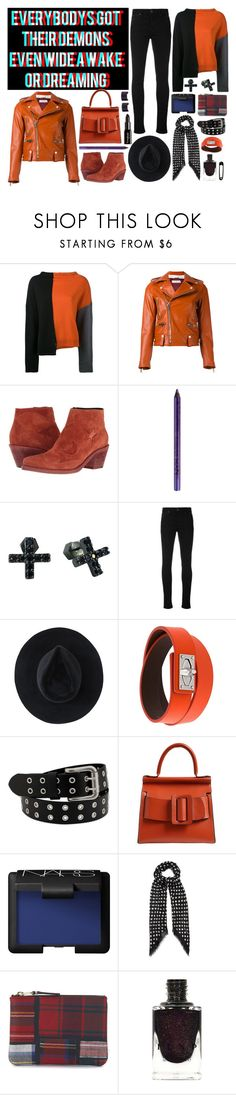 """casual demon"" by nothingisnormal ❤ liked on Polyvore featuring Marni, Golden Goose, McQ by Alexander McQueen, NYX, Nicole Miller, Vivienne Westwood Red Label, Ryan Roche, Givenchy, Boyy and NARS Cosmetics"