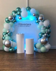 Circular Backdrop - New Deko Sites Balloon Arch Diy, Balloon Backdrop, Balloon Garland, Balloon Columns, Shower Party, Baby Shower Parties, Baby Shower Themes, Baby Shower Decorations, Christening Decorations