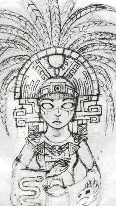 Aztec by LadyFatality on deviantART | Santa Muerte Tattoo ...