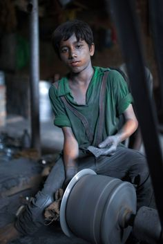 photographer Zakir Hossain Chowdhury visited an aluminium pot factory in Dhaka, Bangladesh, where most of the workers are children...