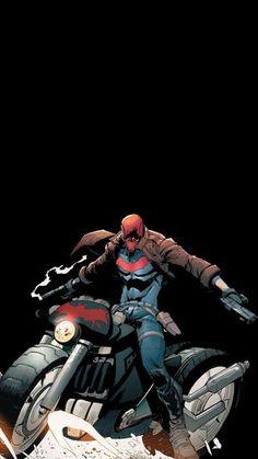 Red Hood Comic, Red Hood Dc, Batman Red Hood, Batman Robin, Batman Art, Nightwing, Red Hood Wallpaper, Wallpaper Desktop, Girl Wallpaper